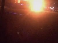 Brand ved tribunen på Korsør Stadion