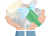 Ram plet med dit affald